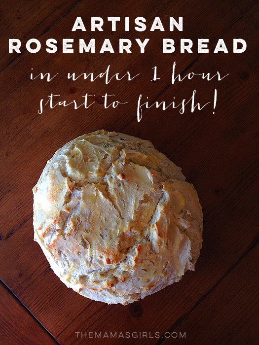 Artisan Rosemary Bread in under an hour!