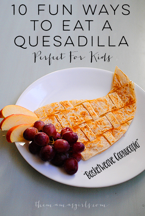 10 fun ways to eat a quesadilla- fun kid luch