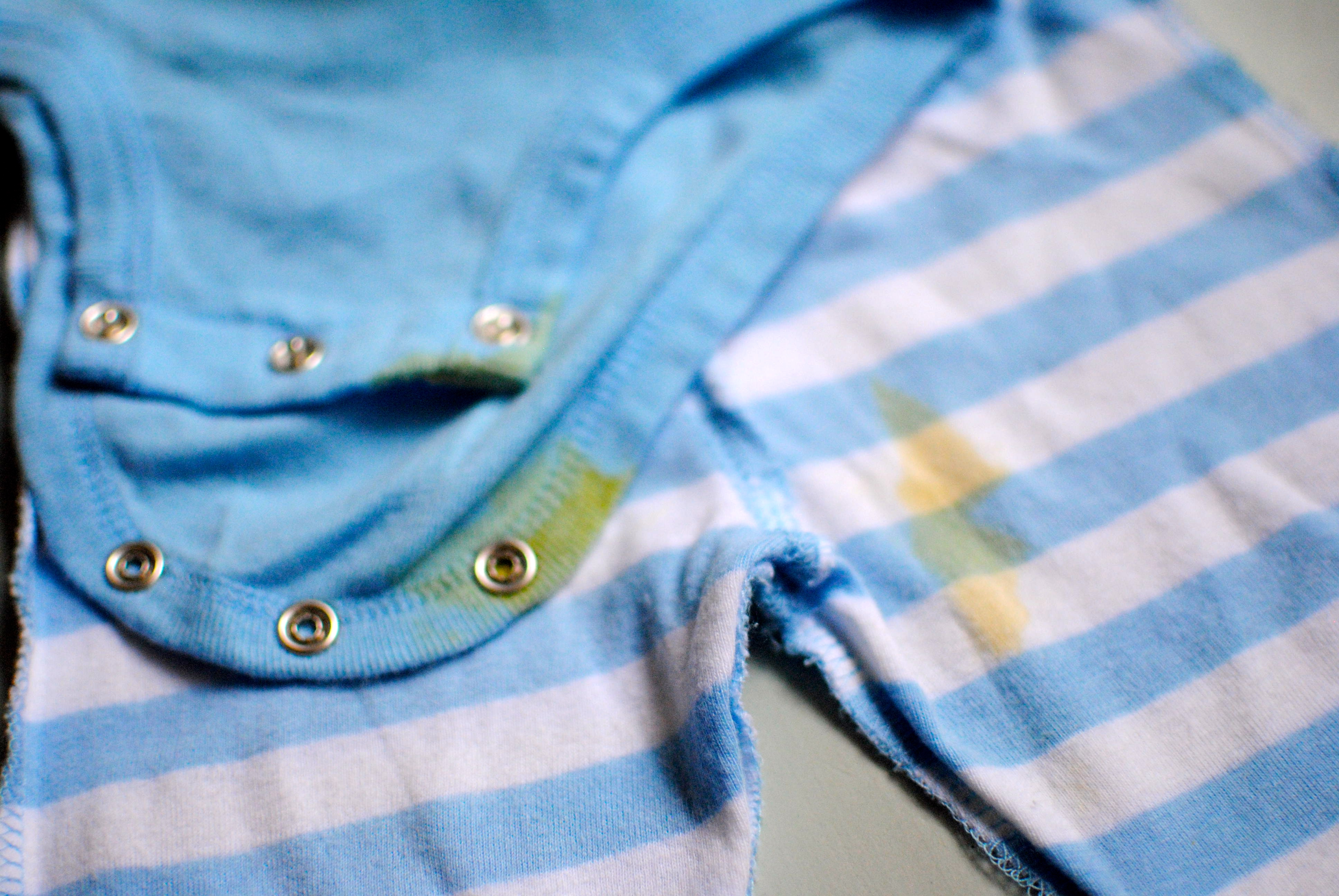 How to remove infant poop stains