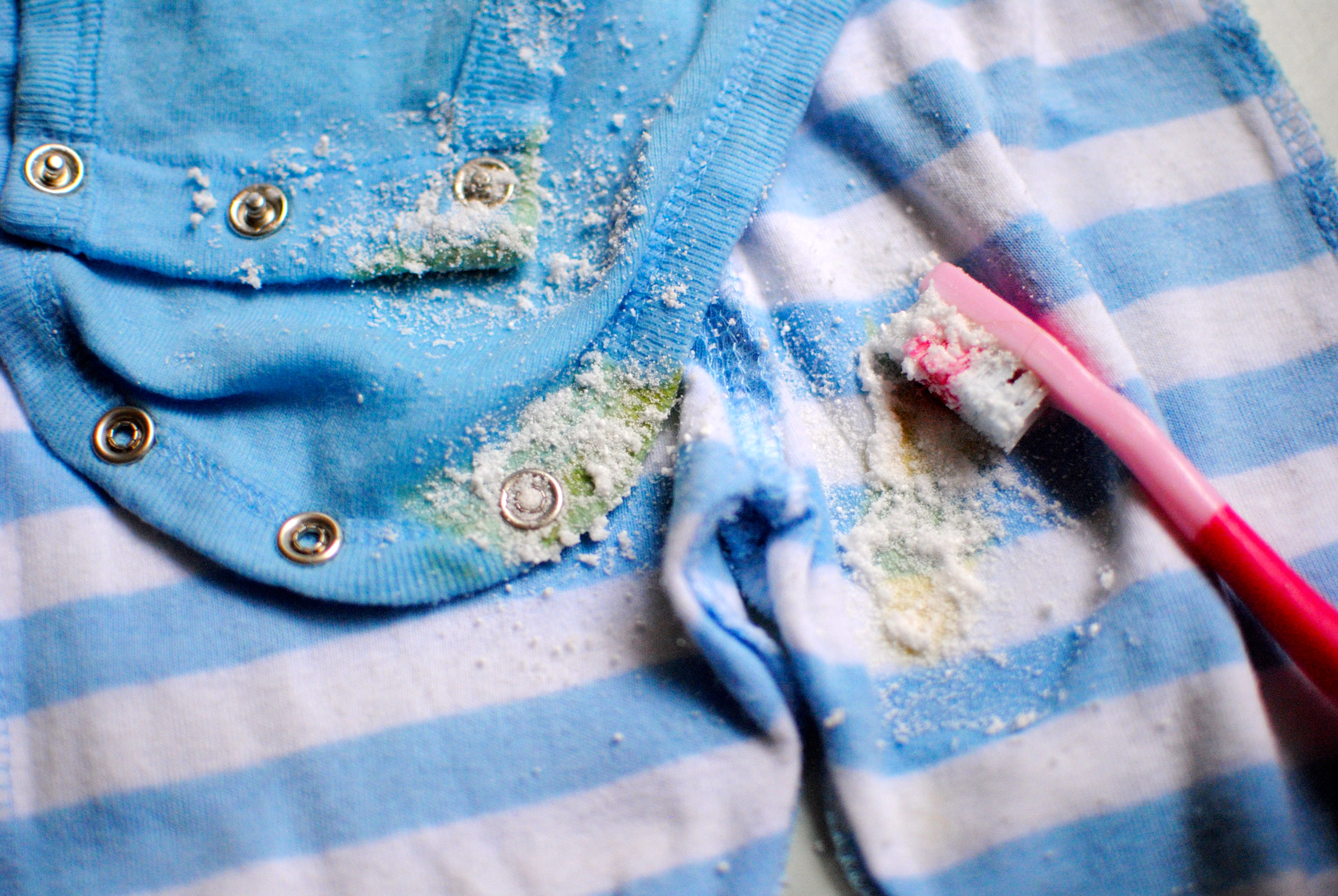 How to remove the yellow infant stains