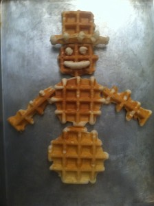 Waffle Snowman and other fun ideas