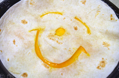 happy face quesadilla
