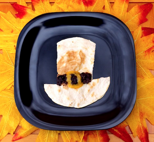 pilgrim hat quesadilla for kids