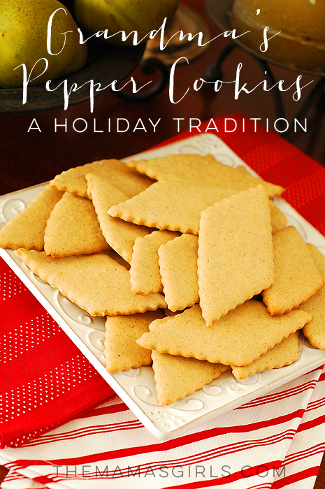 Grandma's Pepper Cookies - a Holiday Tradition!