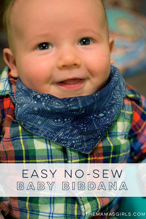 Easy NO_SEW baby bibdana