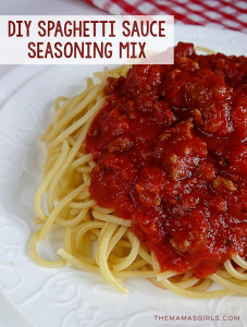 DIY Spaghetti Sauce Seasoning Mix -