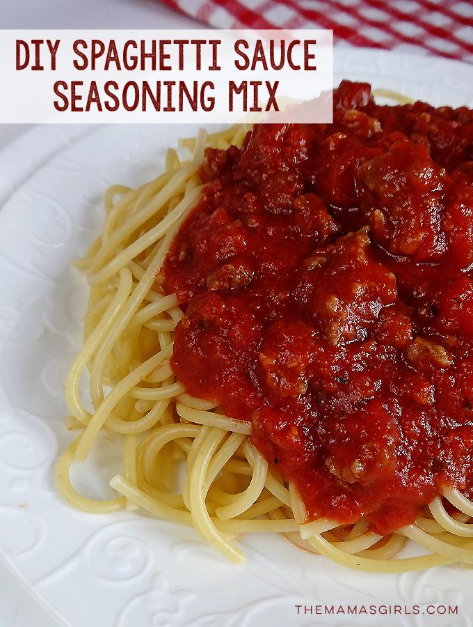 Diy Spaghetti Sauce Mix The Mama S Girls