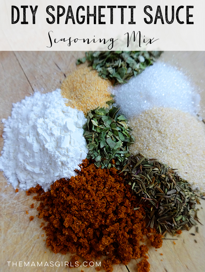 DIY Spaghetti Sauce Seasoning Mix