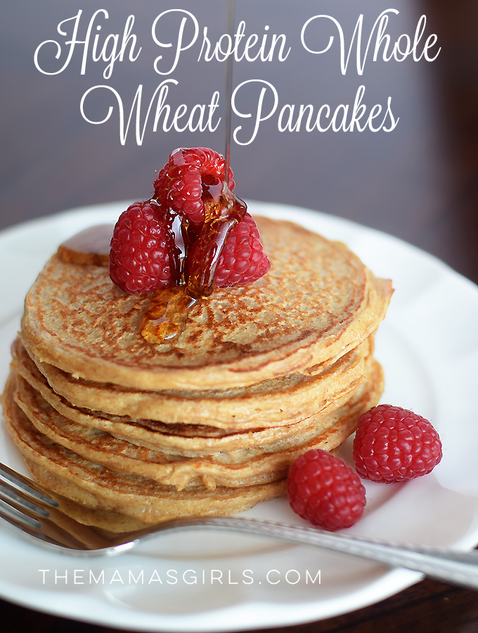 High Protein Pancakes - whole wheat