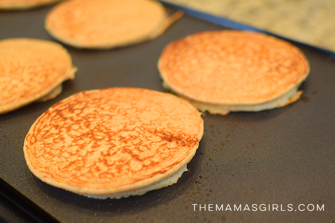 high protein pancakes on the griddle