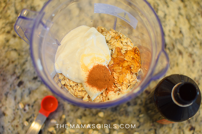 protein pancakes in the blender