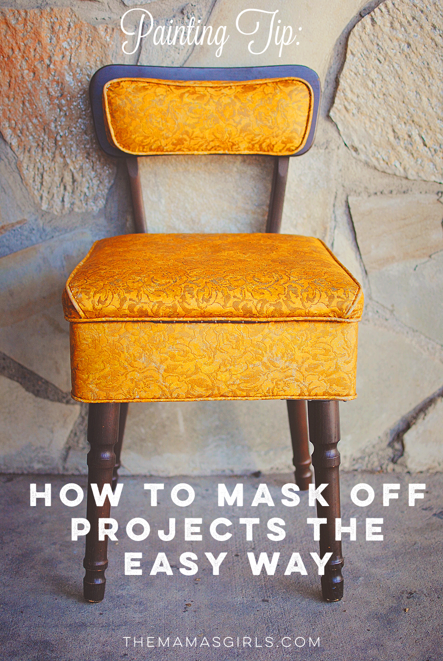 How to mask off projects the easy way - clever painting tip