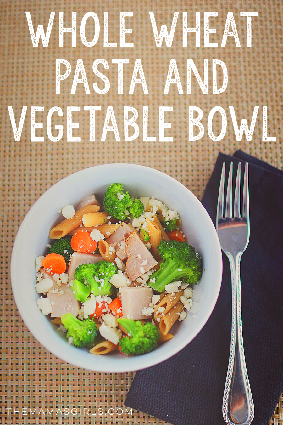 whole wheat pasta and vegetable bowl