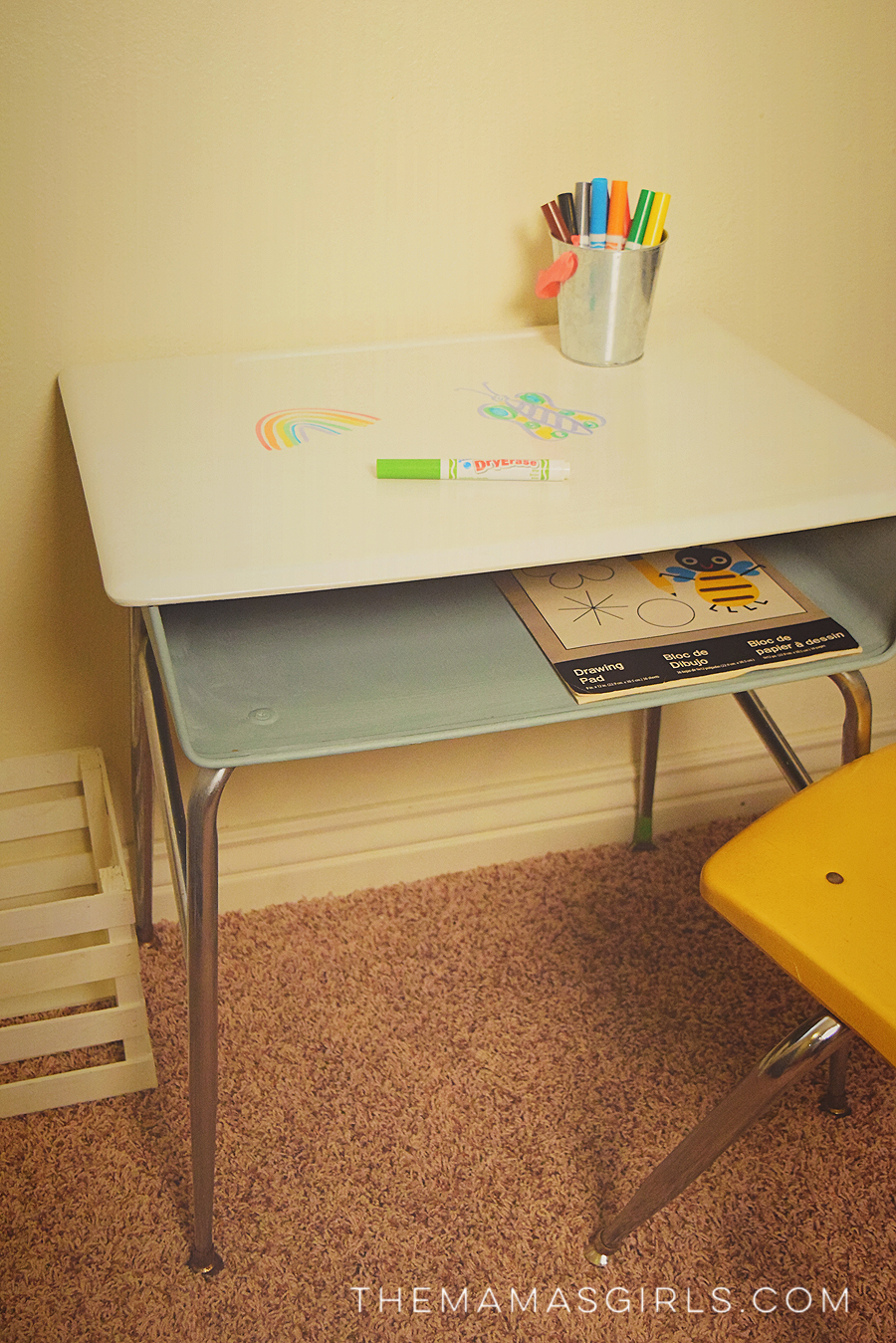 DIY Dry erase Desk -