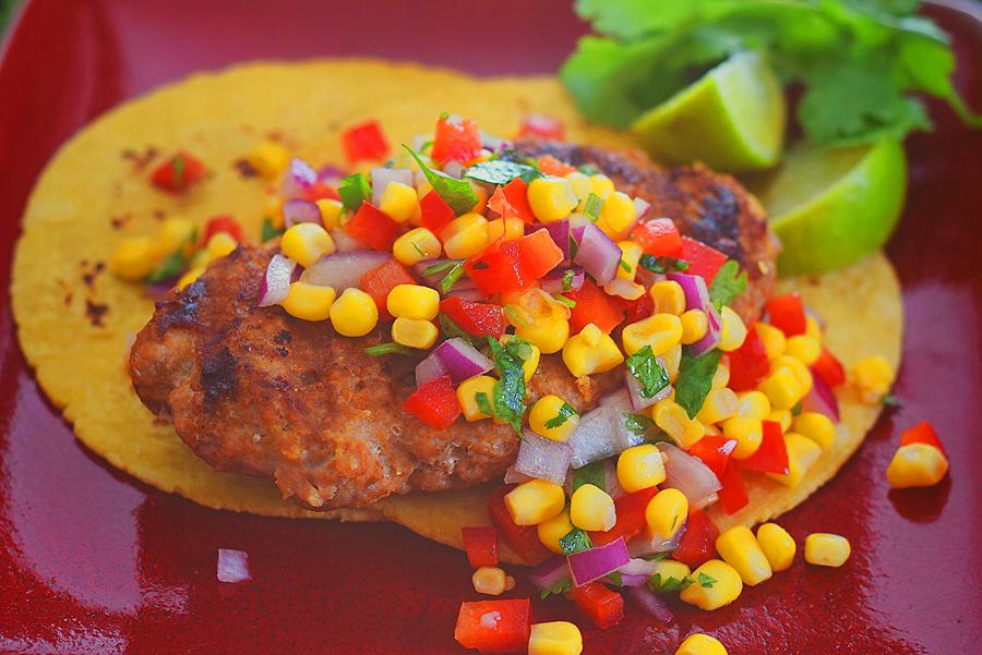 Grilled Mini Turkey Taco Patties