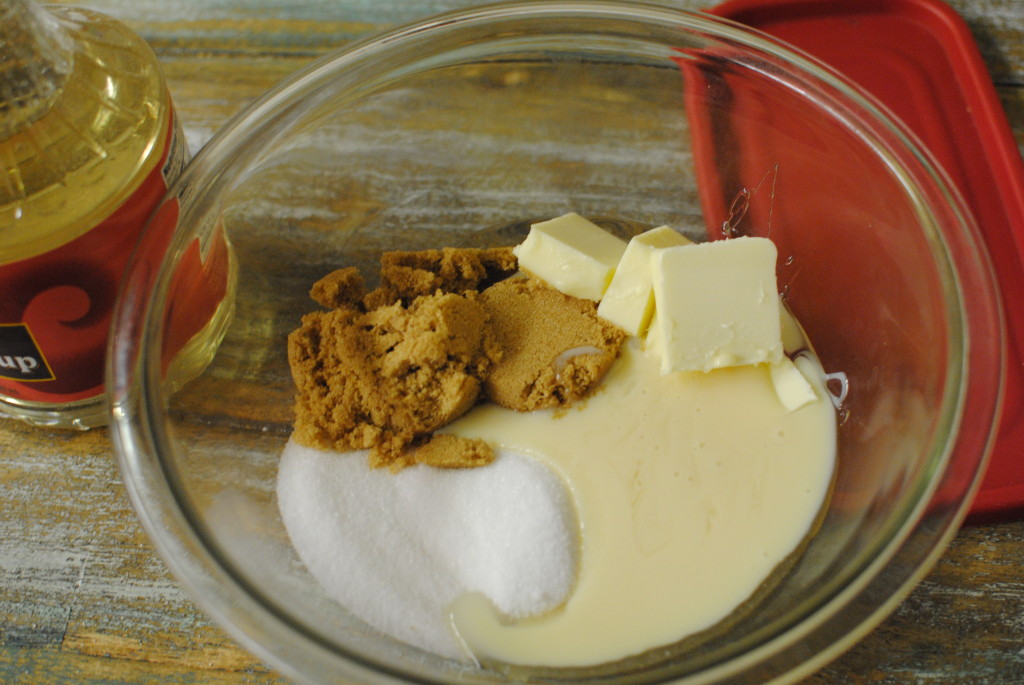 microwave caramel dip ingedients
