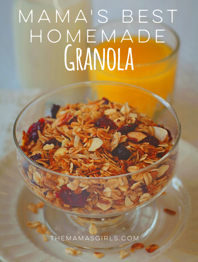 Mama's Best Homemade Granola- so amazing