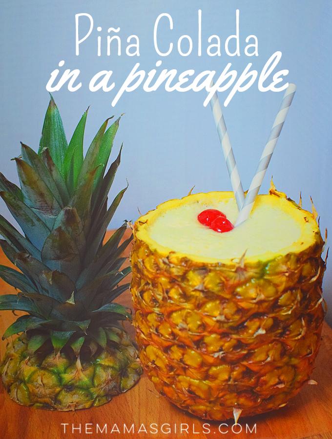 Piña Colada in a Pineapple