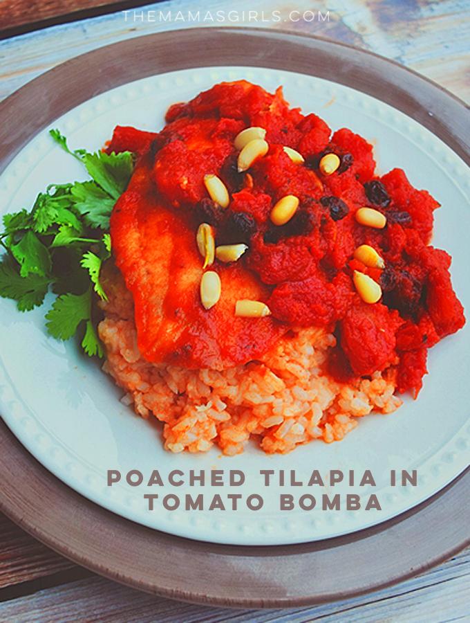 Poached Tilapia in Tomato Bomba