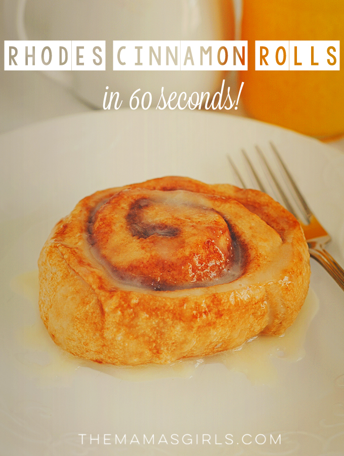 Rhodes Microwave Cinnamon Rolls - ready to eat in 60 seconds!
