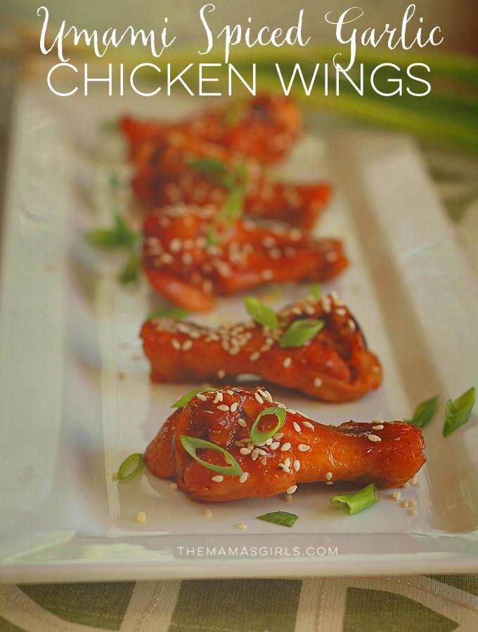 Umami Spiced Garlic Chicken Wings - amazing