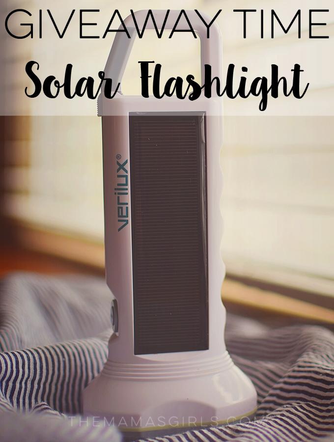 Solar Flashlight Giveaway