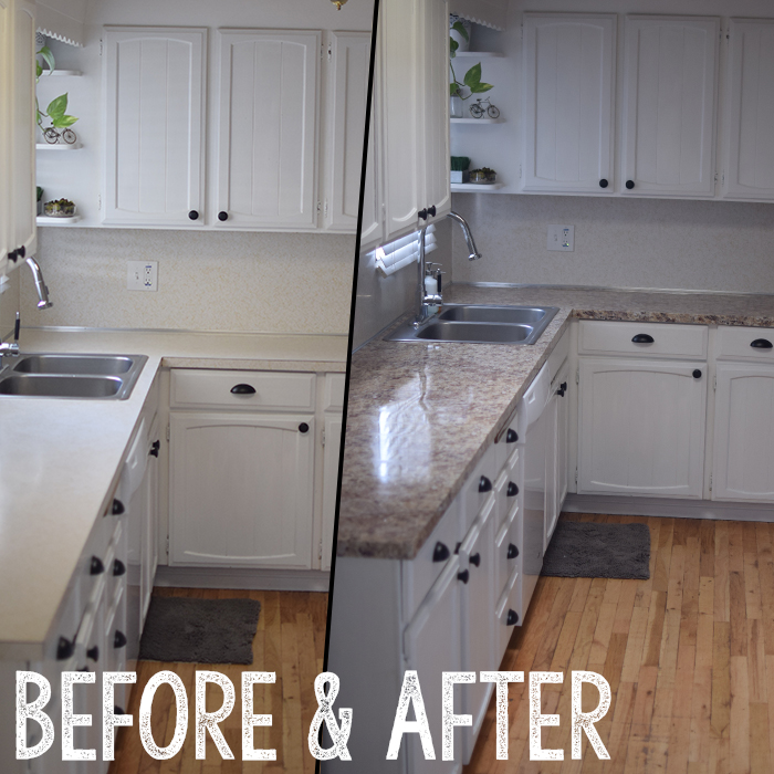 instant granite before and after