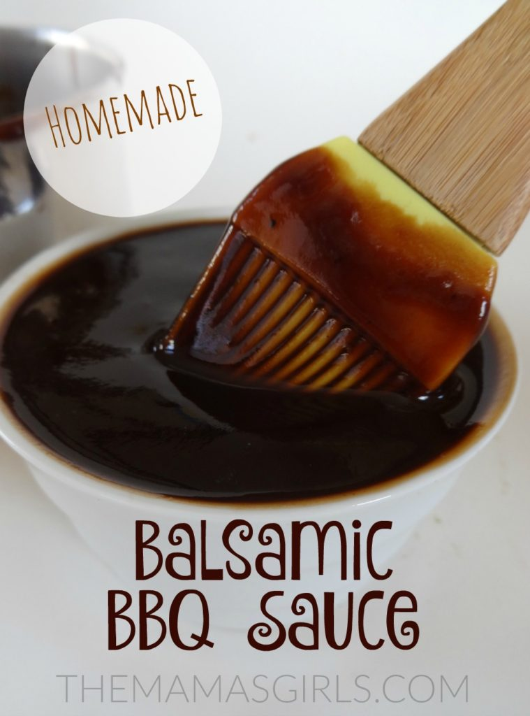 Homemade Balsamic BBQ Sauce - themamasgirls.com