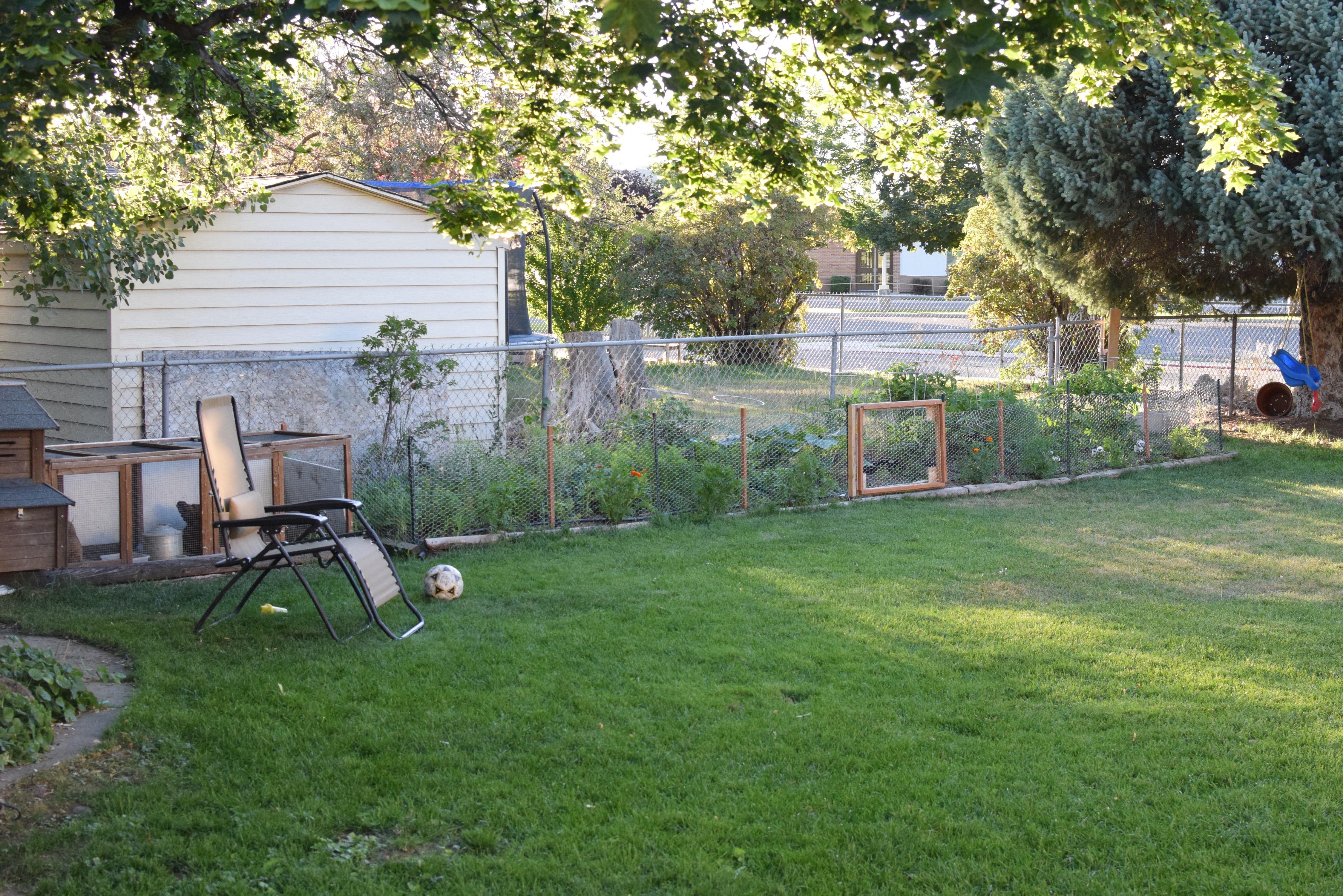 how to close off a garden
