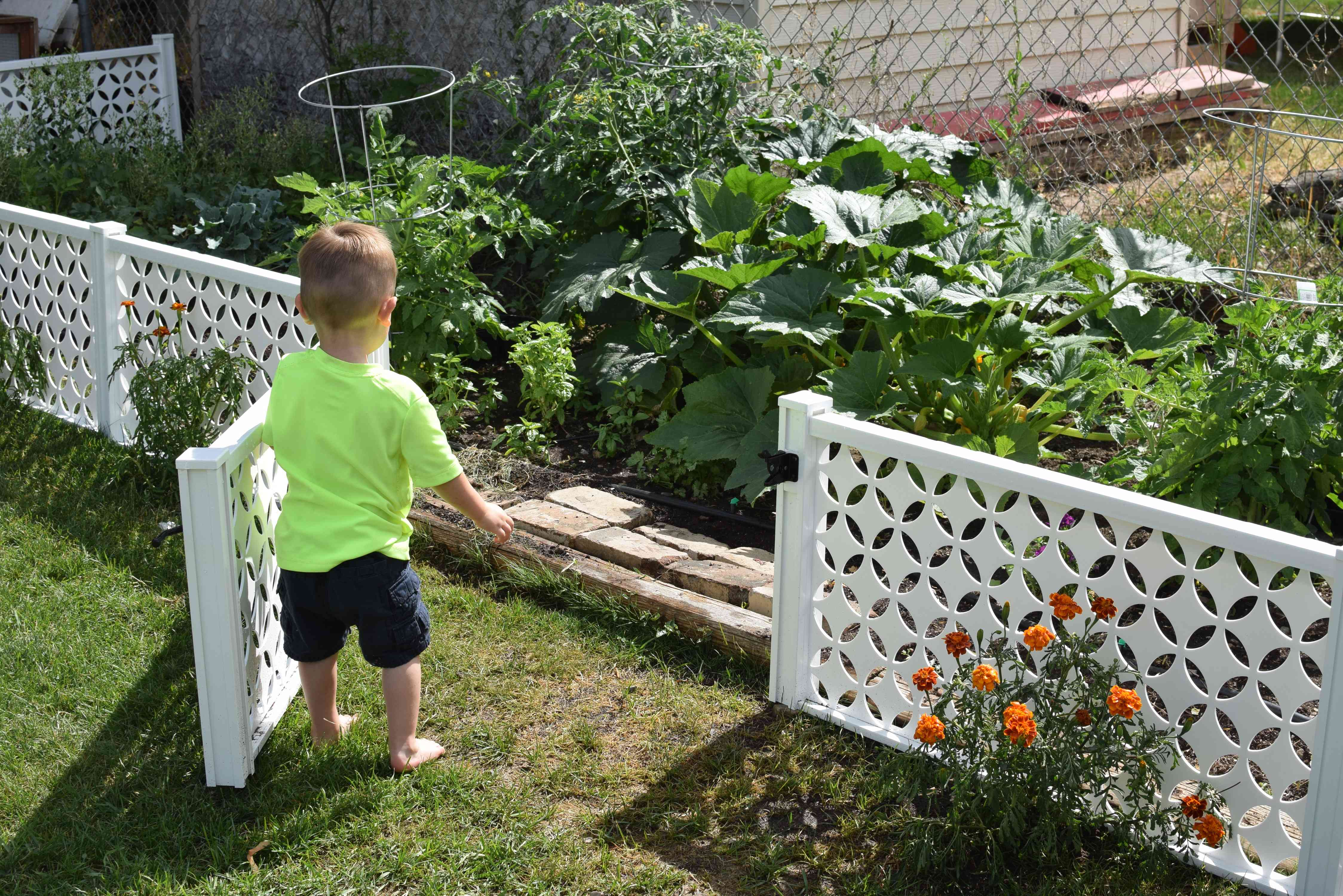 how to enclose a garden to protect from children