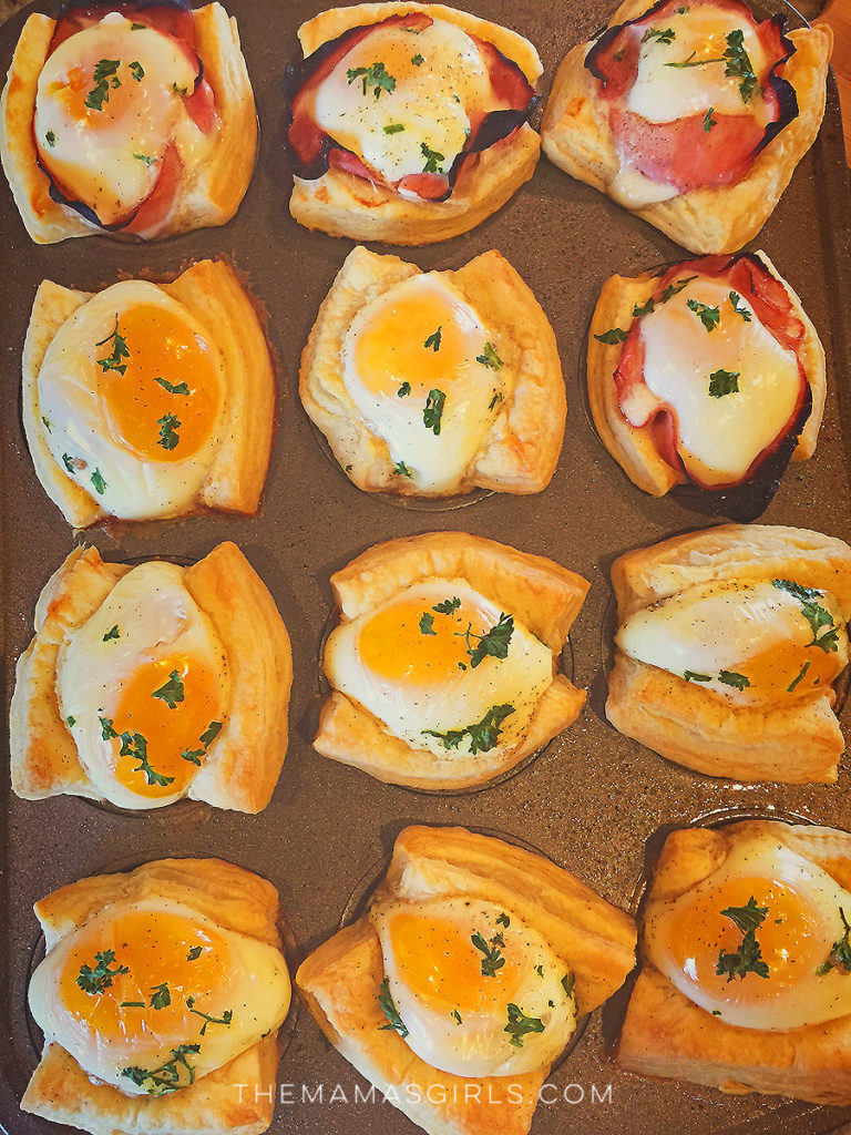 egg muffins puff pastry